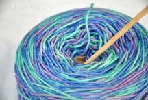 Acrylics soften yarn