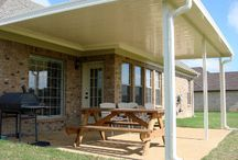 Backyard Patio and Patio Cover / Dallas Deaver with Circle D Industries provides backyard patio covers for homes and businesses.  This board represents some of the patio covers Dallas and his team have built.