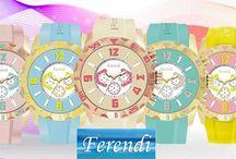 ΝΕΑ πολύχρωμα ρολόγια FERENDI σε υπέροχα σχέδια και μοναδικές τιμές!!!!
