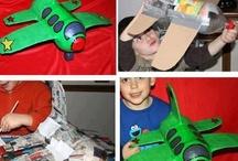 avión con material reciclado