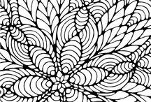 BlomsterMotiv / Mandala färgläggnings utskriftbara sidor.
