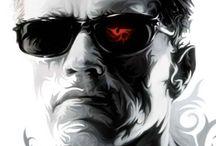 The Terminator / Schwarzenegger interpreta al Terminator, un ciborg asesino enviado a través del tiempo desde el año 2029 a 1984 para asesinar a Sarah Connor. Terminator T-800 modelo Cyberdyne 101.