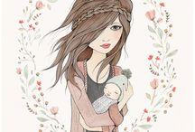 illustrations of girls
