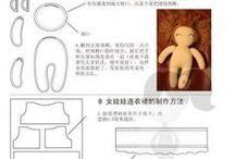 Bambole fantasia, tessuti e materiali