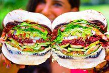 Raw vegan burger