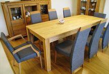 Dubový nábytok  / Moderný luxusný dubový nábytok z masívu