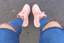 Shoes, heels, sneakers.