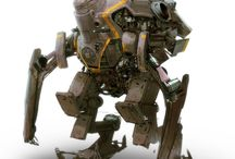 Mecha!! (+ a few robots, exosuits, power armor...) / I believe that robots should only have faces if they truly need them. - Donald Norman    / by Michael Atkinson