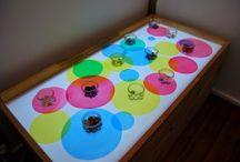 activités enfants - table lumineuse