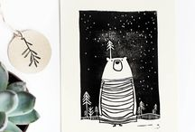 Linocut / handmade linocut prints