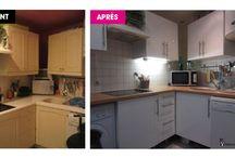 AVANT / APRES / Transformations / home staging / ameublement clé en main réalisés par MERVEILL'HOME