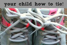 Tying Shoes - Learning How / Ideas | Activities | Homeschooling | Educational | Tying Shoes  | Printables | Learning | Crafts