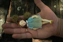 Mini / Mini is handmade air-dry doll, OOAK by Romantic Wonders