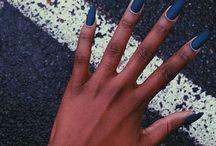 Dark skin nails