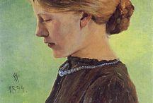 Heinrich Vogeler / German painter, designer, and architect, associated with the Düsseldorf school.