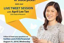 COL FINANCIAL APRIL LEE TAN COMMUNITY BILLBOARD