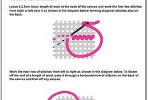 Needlepoint stitches&embroidery