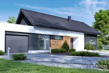 HomeKONCEPT 44 G1 | Projekt domu / HomeKONCEPT 44 G1 to wersja popularnego projektu z garażem jednostanowiskowym.