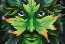 B - green man / by Ann Kaat