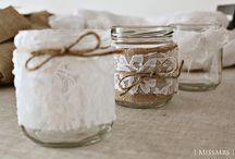 Diy Botes de Cristal / Perfectos para decorar cualquier rinconcito
