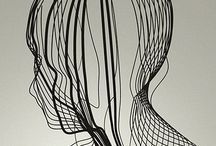 Wire sculptures / Woven, knitted and sculpted wire forms