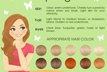 Účesy, make-up, barvy