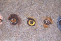 Глаза из шерсти
