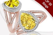 Top 50 Engagment Rings / VOGUE - The world's Most Captivating Jewelry As seen on The Knot