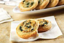 Cheese spinach swirls
