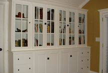 libraries and bookcases / by Rebecca Graue Chambers