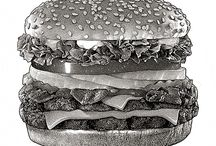 Food & Beverage | Pen & Ink Stipple / Food & Beverage | Pen & Ink Stipple