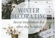 Winter decorating....anything but Christmas