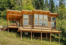 Cabin on hillside