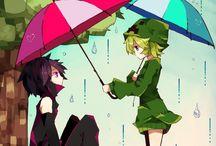 creeper x enderman anime