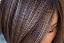 Hair colour and style