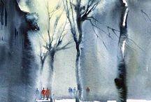 winter watercolor
