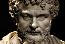 Ancient Antique Art - Busts of Roman Emperors (Marble)