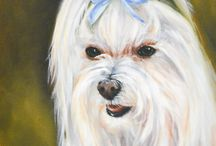 Custom Pet Portraits / I specialize in Custom Pet Portraits.  My portraits are available in 3 techniques: Dry Brush Oil, Traditional Oil and Pop Art.  Check out all of these custom pet portraits of these gorgeous dogs and cats!