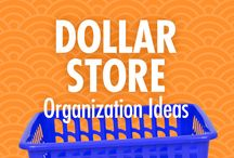 Dollar Store Organization Ideas / The buck STARTS here: Alejandra Costello's dollar store organization ideas, videos, best products, and tips take the guesswork out of what to look for at the dollar store, and the fun ways you can use your dollar store finds to make cheap and inexpensive DIY organizers that will leave you feeling like a million bucks.  / by Alejandra Costello | Home Organizing Tips, Ideas, Videos, & Best Products