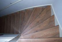 pvc stroken op trappen / pvc stroken op trappen met aluminium trapprofielen