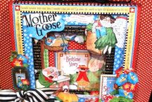 ALBUMS G45 MOTHER GOOSE layouts cards etc