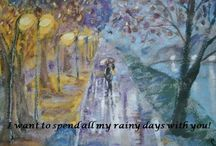 Sentimental Letters from the Courtyard / Original sentiment with original artwork from Christine Gilliam Hornback