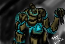 Earth Realm- Golem Boss Research / a board of research for my earth realm boss which will be a golem style character.