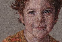 вышивка - портрет