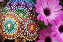 Egg-Shaped Mandala Stones