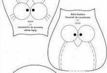 búhos telas