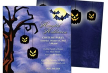 Halloween Party Invitations DIY Printable Templates / Super cute Halloween party invitations for adults and kids. Create your own with templates!