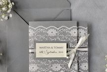 Grey Wedding Colour Scheme / by Georgina at Ruby Weddings
