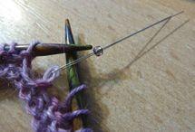 technique et points tricot