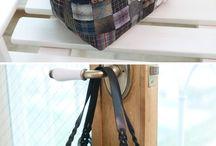 Лоскутные хозяйственные сумки